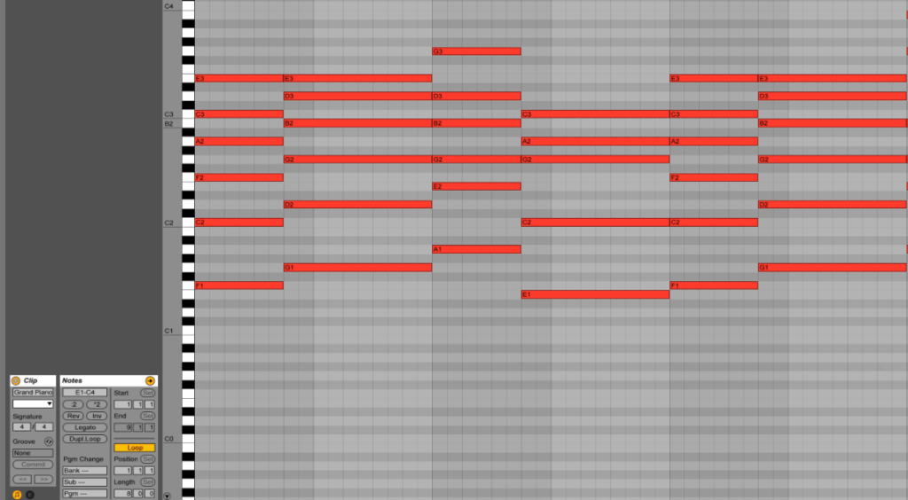 Ableton Live: Piano Roll
