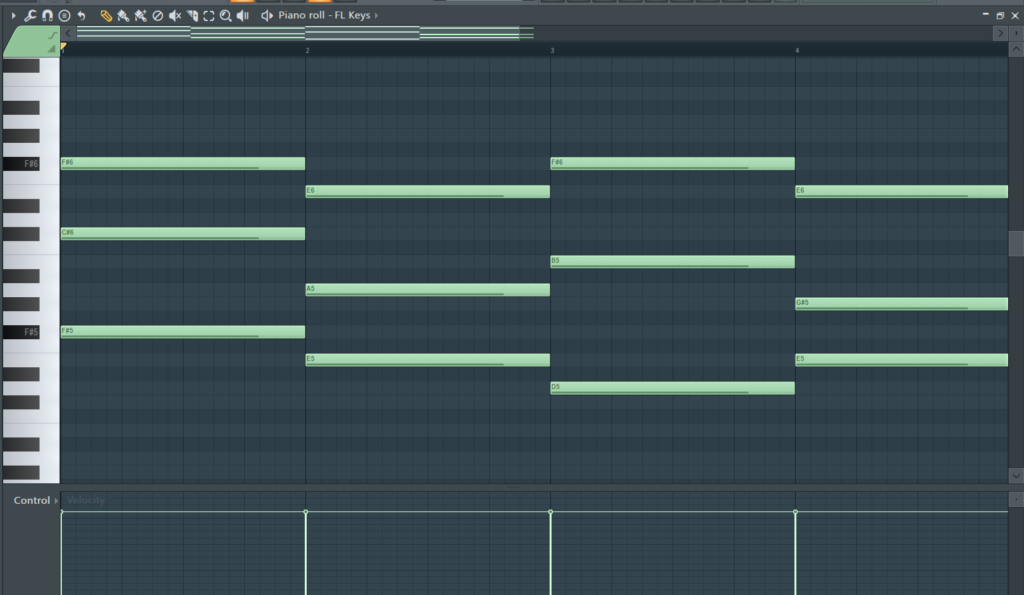 FL Studio: Piano Roll