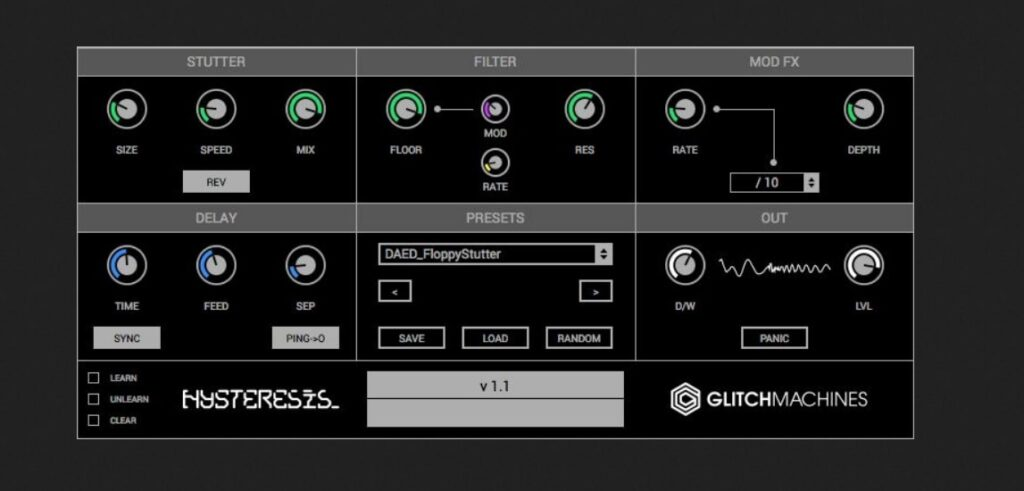 Hysteresis Glitch Delay