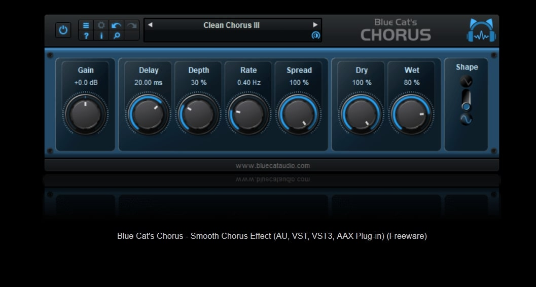 Blue Cat's Chorus Free Chorus Plugin